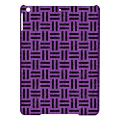 Woven1 Black Marble & Purple Denim Ipad Air Hardshell Cases by trendistuff