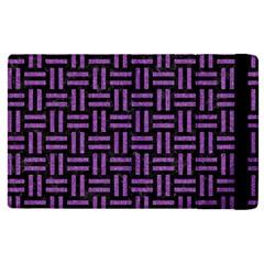 Woven1 Black Marble & Purple Denim (r) Apple Ipad Pro 9 7   Flip Case by trendistuff