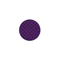Woven2 Black Marble & Purple Denim 1  Mini Buttons by trendistuff