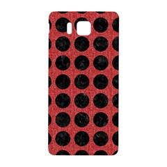 Circles1 Black Marble & Red Denim Samsung Galaxy Alpha Hardshell Back Case by trendistuff