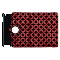 Circles3 Black Marble & Red Denim (r) Apple Ipad 2 Flip 360 Case by trendistuff