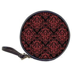 Damask1 Black Marble & Red Denim (r) Classic 20 Cd Wallets by trendistuff