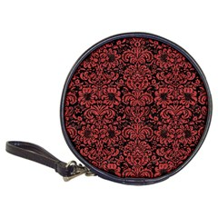 Damask2 Black Marble & Red Denim (r) Classic 20 Cd Wallets by trendistuff