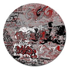 Graffiti Magnet 5  (round) by ValentinaDesign