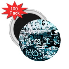 Graffiti 2 25  Magnets (100 Pack)  by ValentinaDesign