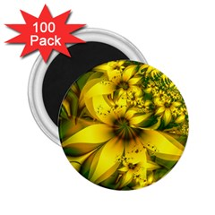 Beautiful Yellow Green Meadow Of Daffodil Flowers 2 25  Magnets (100 Pack)  by beautifulfractals