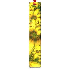 Beautiful Yellow Green Meadow Of Daffodil Flowers Large Book Marks by beautifulfractals