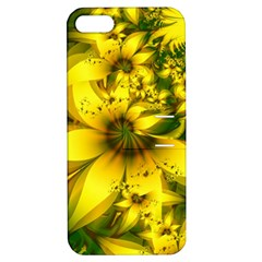 Beautiful Yellow Green Meadow Of Daffodil Flowers Apple Iphone 5 Hardshell Case With Stand by beautifulfractals