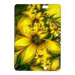 Beautiful Yellow Green Meadow Of Daffodil Flowers Kindle Fire Hdx 8 9  Hardshell Case by jayaprime