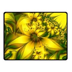 Beautiful Yellow Green Meadow Of Daffodil Flowers Double Sided Fleece Blanket (small)  by jayaprime