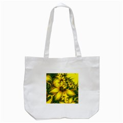 Beautiful Yellow Green Meadow Of Daffodil Flowers Tote Bag (white) by beautifulfractals