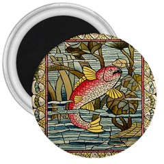 Fish Underwater Cubism Mosaic 3  Magnets by Celenk