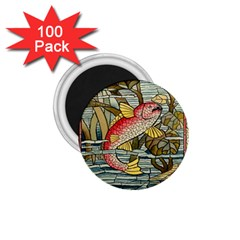 Fish Underwater Cubism Mosaic 1 75  Magnets (100 Pack)  by Celenk