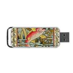 Fish Underwater Cubism Mosaic Portable Usb Flash (two Sides) by Celenk