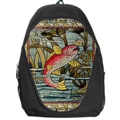 Fish Underwater Cubism Mosaic Backpack Bag by Celenk