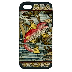 Fish Underwater Cubism Mosaic Apple Iphone 5 Hardshell Case (pc+silicone) by Celenk