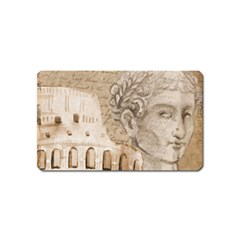 Colosseum Rome Caesar Background Magnet (name Card) by Celenk