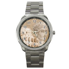 Colosseum Rome Caesar Background Sport Metal Watch by Celenk