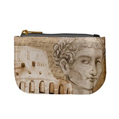 Colosseum Rome Caesar Background Mini Coin Purses by Celenk