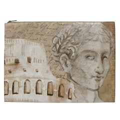 Colosseum Rome Caesar Background Cosmetic Bag (xxl)  by Celenk