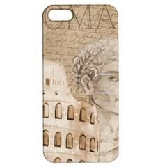 Colosseum Rome Caesar Background Apple Iphone 5 Hardshell Case With Stand by Celenk