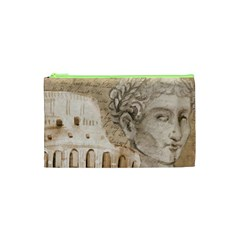 Colosseum Rome Caesar Background Cosmetic Bag (xs) by Celenk