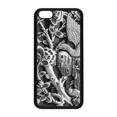 Black And White Pattern Texture Apple Iphone 5c Seamless Case (black) by Celenk