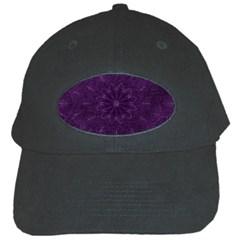 Background Purple Mandala Lilac Black Cap by Celenk