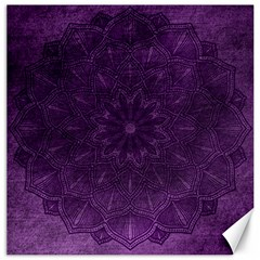 Background Purple Mandala Lilac Canvas 12  X 12   by Celenk