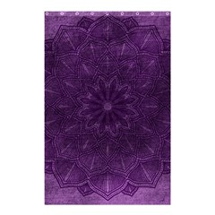 Background Purple Mandala Lilac Shower Curtain 48  X 72  (small)  by Celenk