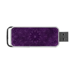 Background Purple Mandala Lilac Portable Usb Flash (two Sides) by Celenk