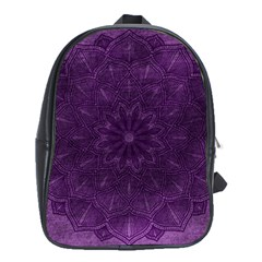 Background Purple Mandala Lilac School Bag (xl) by Celenk