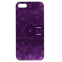 Background Purple Mandala Lilac Apple Iphone 5 Hardshell Case With Stand by Celenk