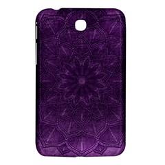Background Purple Mandala Lilac Samsung Galaxy Tab 3 (7 ) P3200 Hardshell Case  by Celenk