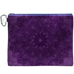 Background Purple Mandala Lilac Canvas Cosmetic Bag (xxxl) by Celenk