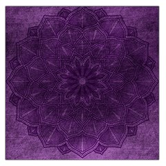Background Purple Mandala Lilac Large Satin Scarf (square) by Celenk