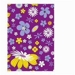 Floral Flowers Small Garden Flag (two Sides) by Celenk