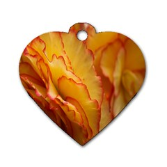 Flowers Leaves Leaf Floral Summer Dog Tag Heart (two Sides) by Celenk