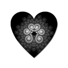 Fractal Filigree Lace Vintage Heart Magnet by Celenk