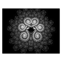Fractal Filigree Lace Vintage Rectangular Jigsaw Puzzl