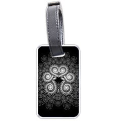 Fractal Filigree Lace Vintage Luggage Tags (one Side)  by Celenk