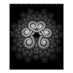 Fractal Filigree Lace Vintage Shower Curtain 60  X 72  (medium)  by Celenk