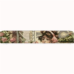French Vintage Girl Roses Clock Small Bar Mats by Celenk