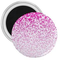 Halftone Dot Background Pattern 3  Magnets by Celenk