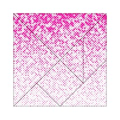 Halftone Dot Background Pattern Acrylic Tangram Puzzle (6  X 6 ) by Celenk