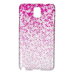 Halftone Dot Background Pattern Samsung Galaxy Note 3 N9005 Hardshell Case by Celenk