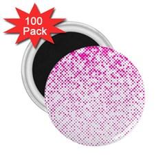 Halftone Dot Background Pattern 2 25  Magnets (100 Pack)  by Celenk