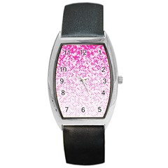 Halftone Dot Background Pattern Barrel Style Metal Watch by Celenk