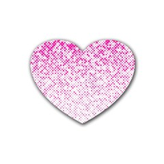 Halftone Dot Background Pattern Heart Coaster (4 Pack)  by Celenk