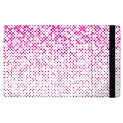Halftone Dot Background Pattern Apple Ipad 2 Flip Case by Celenk